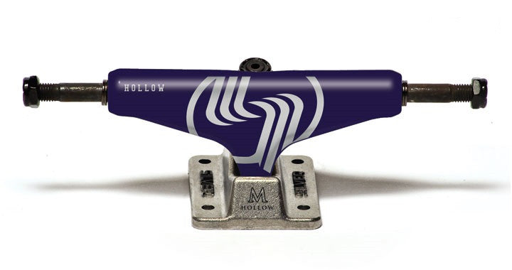 Silver M Class Hollow - Purple/Silver - 8.25in - Skateboard Trucks (Set of 2)