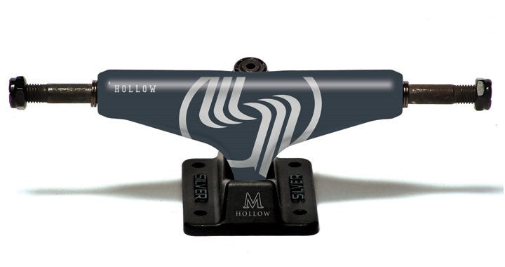 Silver M Class Hollow - Grey/Black - 8.25in - Skateboard Trucks (Set of 2)
