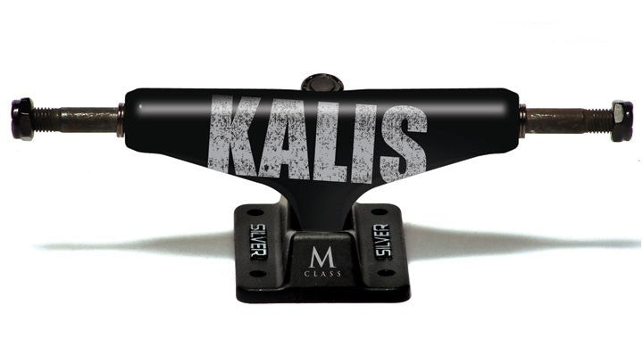 Silver M Class Kalis Bold - Black - 7.75in - Skateboard Trucks (Set of 2)