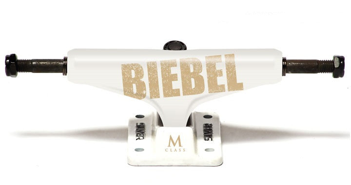 Silver M Class Biebel Bold - White - 7.75in - Skateboard Trucks (Set of 2)
