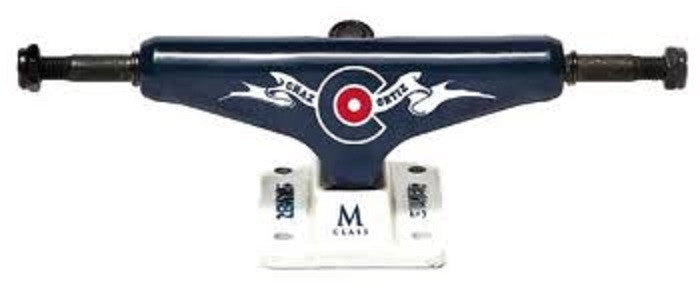 Silver M Class Chaz Icon - Navy/White - 7.5in - Skateboard Trucks (Set of 2)