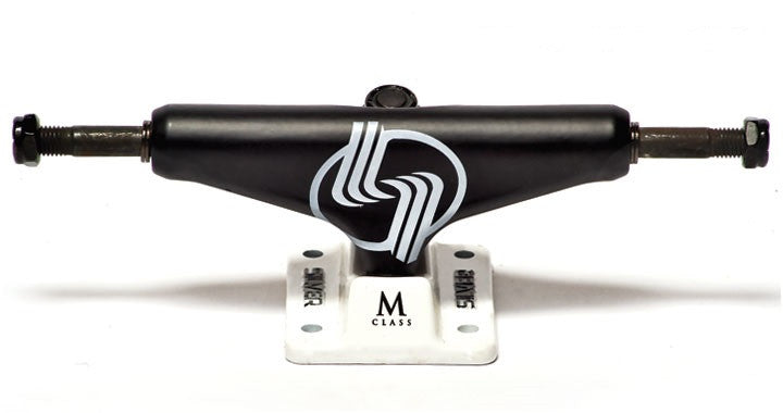 Silver M Class - Black - 8.0in - Skateboard Trucks (Set of 2)