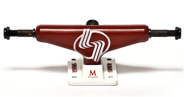 Silver M Class - Red - 7.5in - Skateboard Trucks (Set of 2)