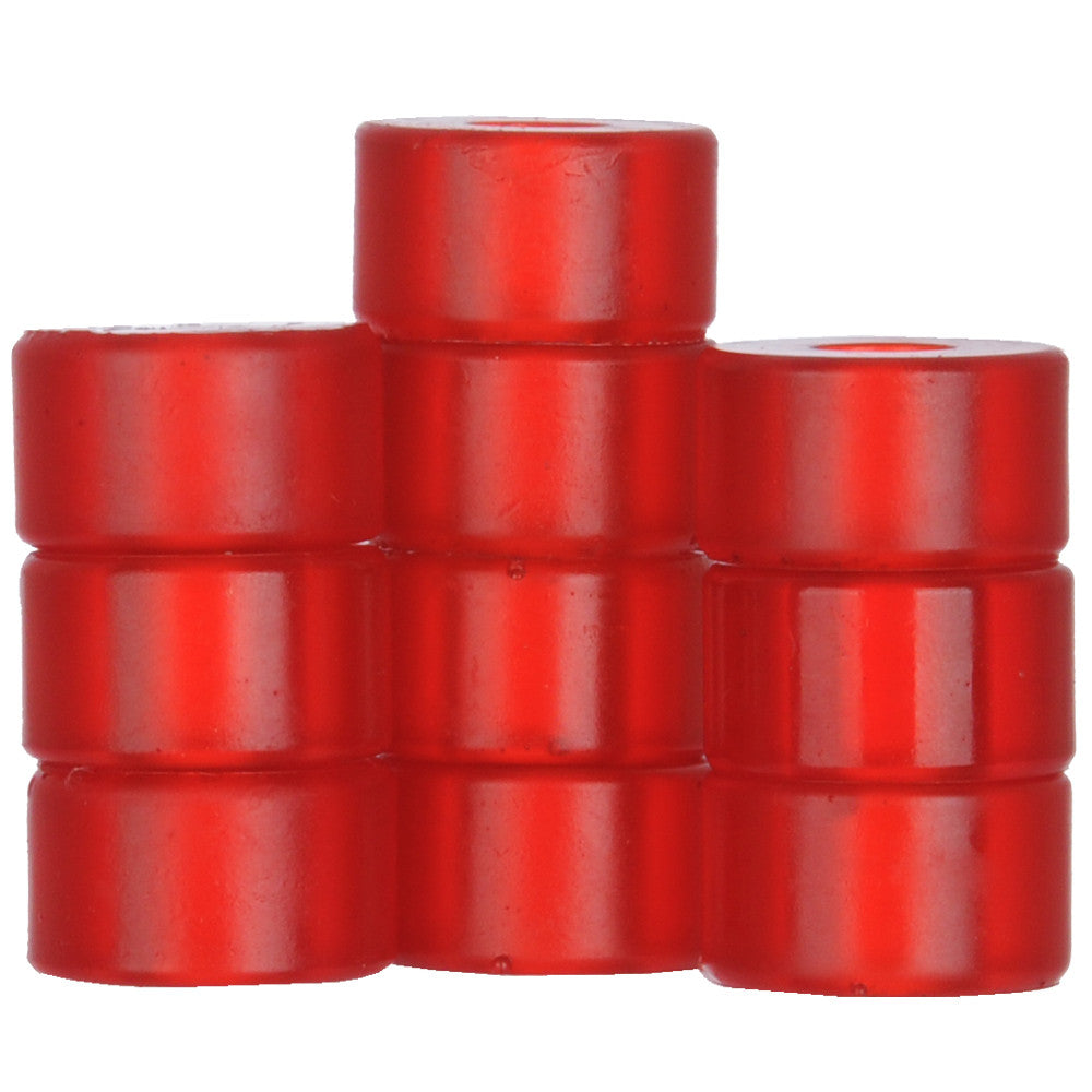 Silver Bushing Bottom - Red - Skateboard Bushings (1 PC)