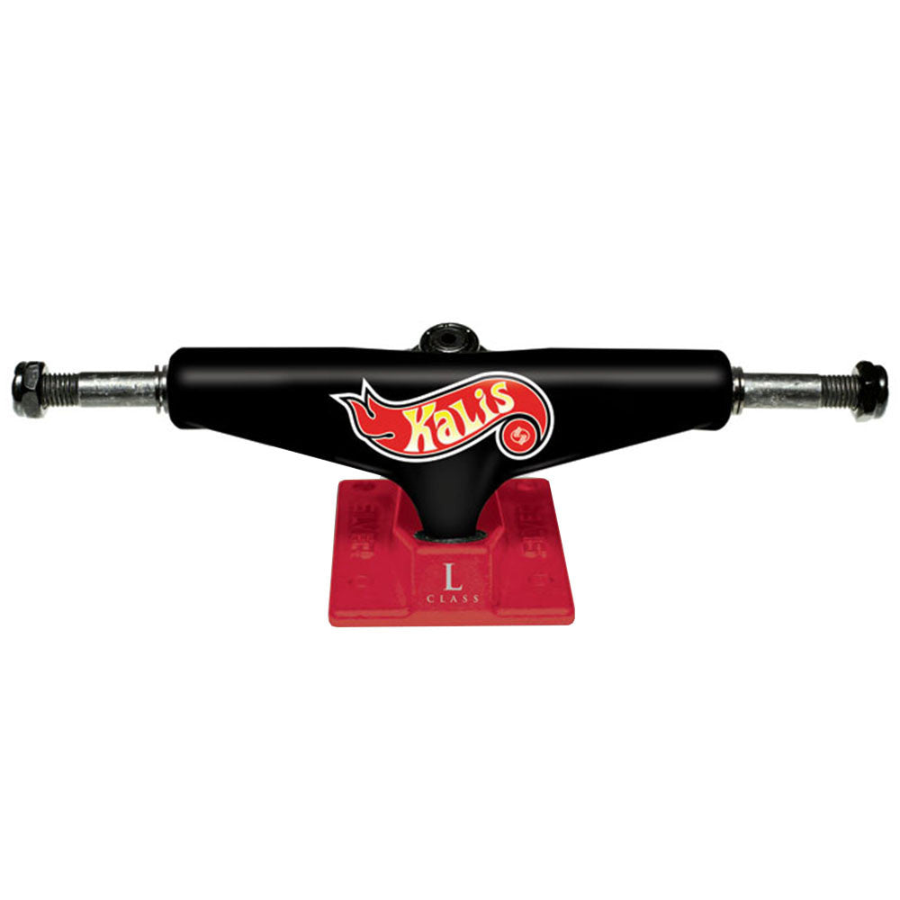 Silver L Class Pro Kalis - Black/Red - 8.25in - Skateboard Trucks (Set of 2)