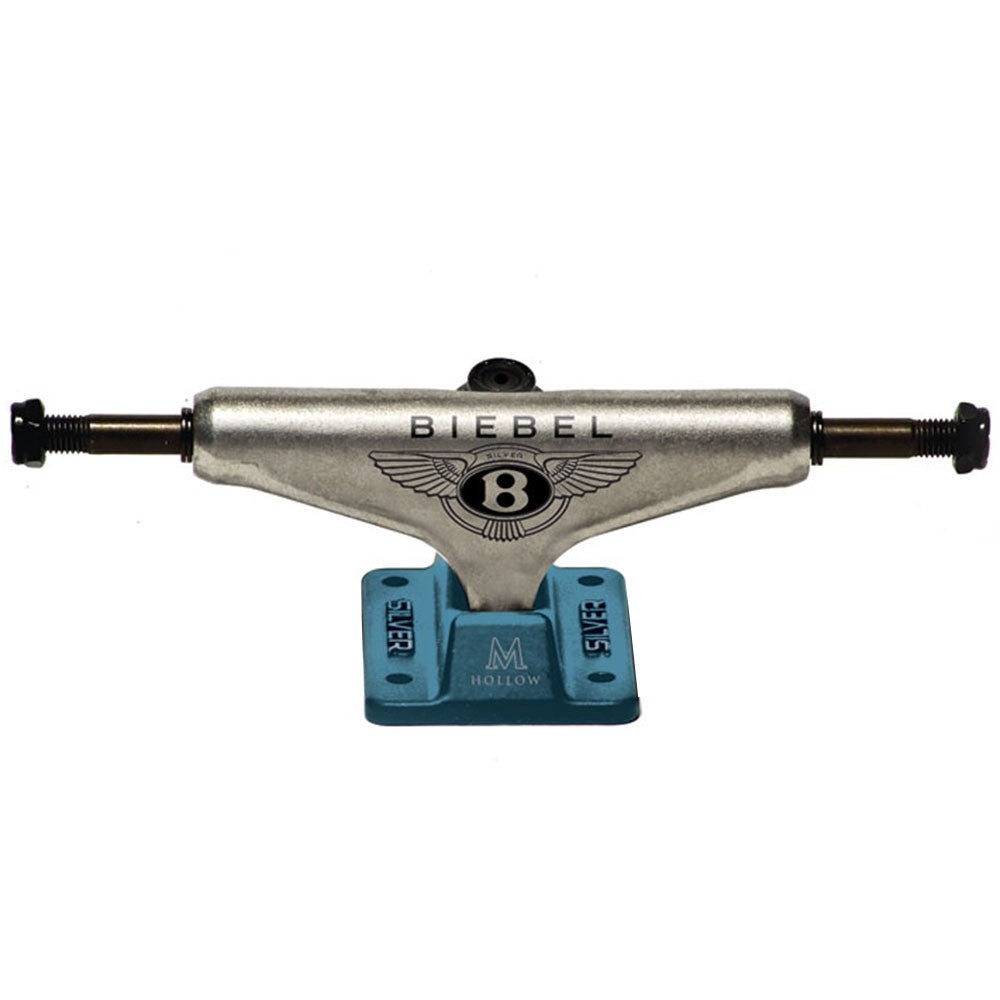 Silver M Class BB Bentley - Raw/Teal - 8.0in - Skateboard Trucks (Set of 2)
