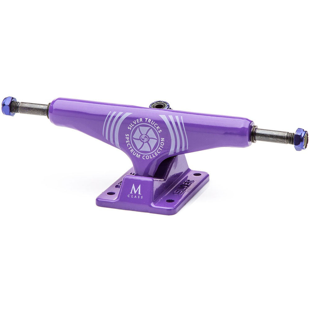Silver M Class - Spectrum Purple - 8.25in - Skateboard Trucks (Set of 2)