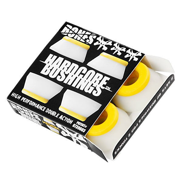 Bones Bushings Hardcore #2 - White - Medium - Skateboard Bushings (4 PC)