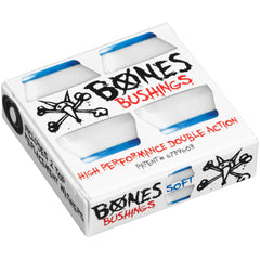 Bones Bushings Hardcore #3 - Blue/White - Soft - Skateboard Bushings (4 PC)