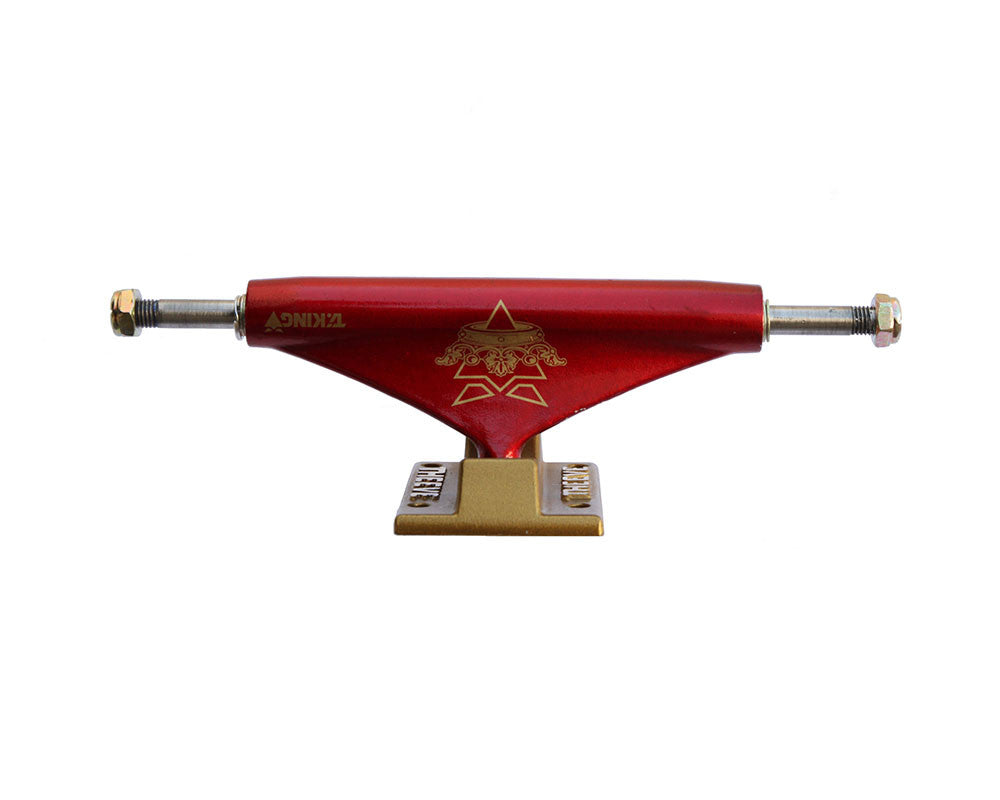 Theeve Tiking (V3) - Burgundy/Gold - 5.25in - Skateboard Trucks (Set of 2)
