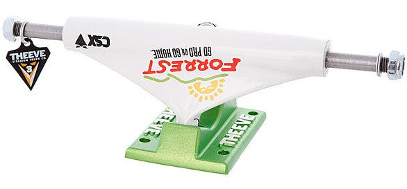 Theeve Forrest Del Taco CSX V3 - White/Green - 5.0 - Skateboard Trucks (Set of 2)