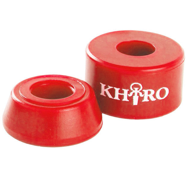 Khiro Barrel Bushing Without Washers - Red - 90a - Skateboard Bushings (2 PC)