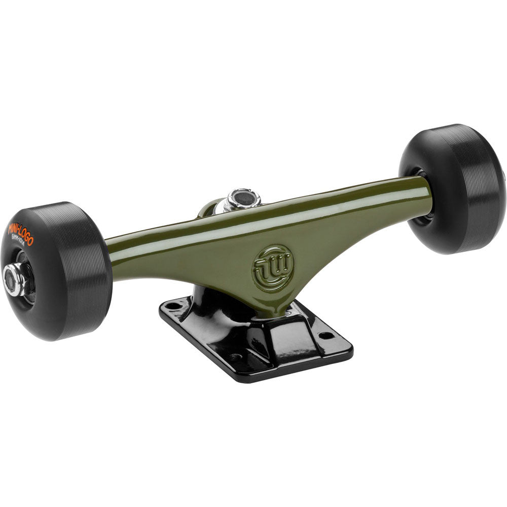 "Mini Logo Trucks Assembly - 8.38"" Green/Black - ML Bearings - 53mm 101a Black Wheels (Set of 2)"