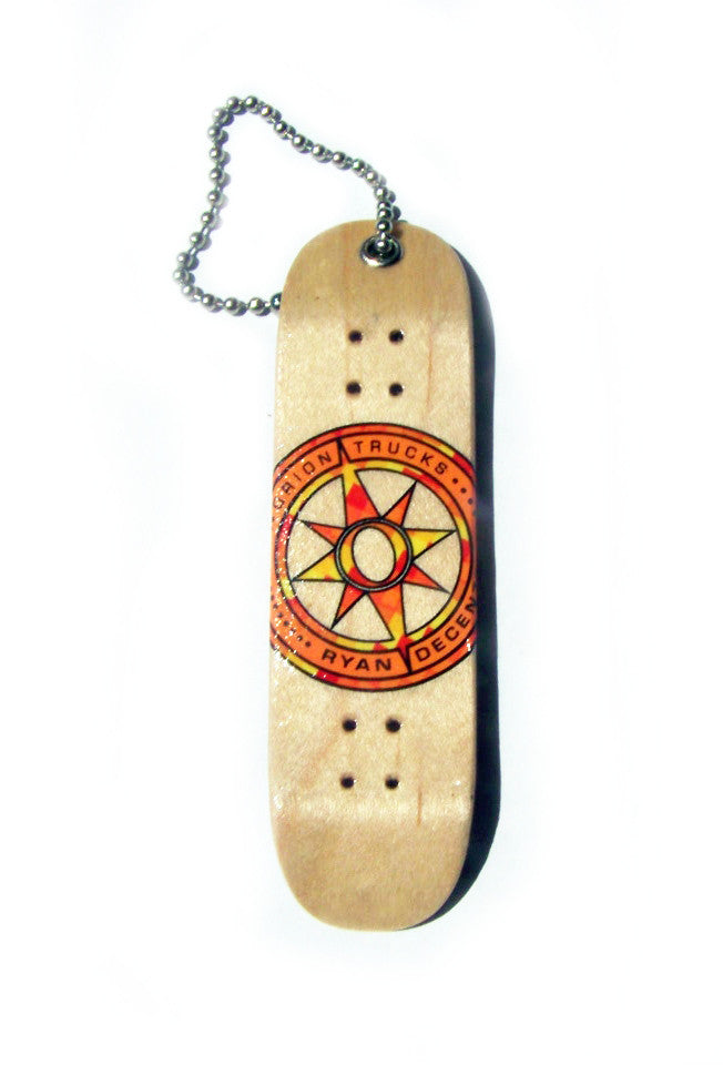 Orion Ryan Decenzo Fingerboard Keychain - Skateboard Accessory