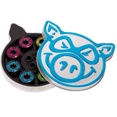 Pig Bearings Neon Abec 5 - Skateboard Bearings (8 PC)