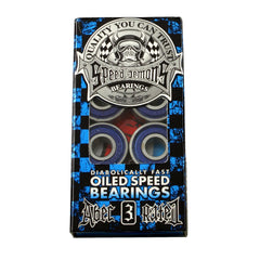 Speed Demons - Blue - Abec 3 - Skateboard Bearings (8 PC)