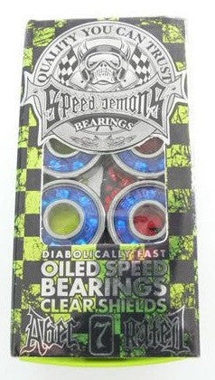 Speed Demons - Clear Blue - Abec 7 - Skateboard Bearings (8 PC)