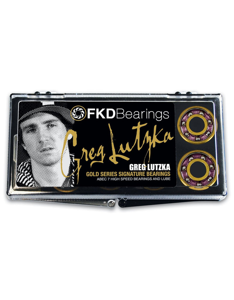 FKD Lutzka Gold Series - Abec 7 - Skateboard Bearings (8 PC)