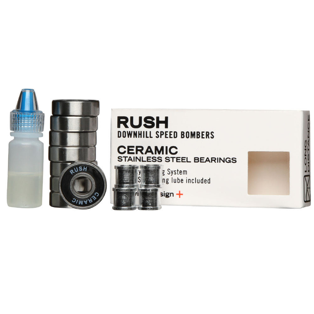 Rush Speed Bomber - Ceramic - Skateboard Bearings (8 PC)