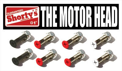 Shorty's Motorhead - 1in - Skateboard Mounting Hardware
