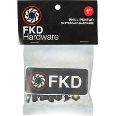 FKD Phillips - Black - 1in - Skateboard Mounting Hardware
