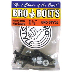 "Bro Style Hardware Phillips 1 1/4"" - Skateboard Mounting Hardware"