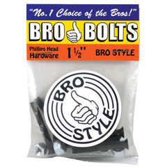 "Bro Style Hardware Phillips 1 1/2"" - Skateboard Mounting Hardware"