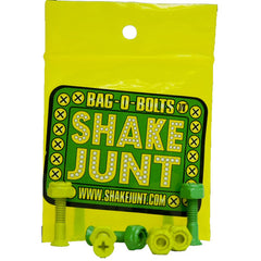 Shake Junt Bag O' Bolts Phillips - Green/Yellow - 7/8in - Skateboard Mounting Hardware