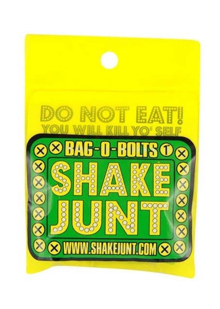 Shake Junt Bag O' Bolts Allen - Green/Yellow - 7/8in - Skateboard Mounting Hardware