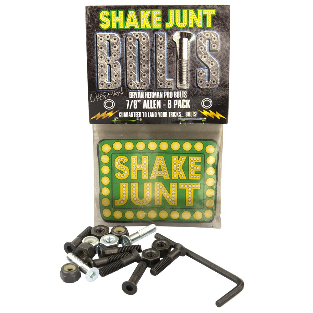 Shake Junt Bryan Herman Pro Allen - Black - 7/8in - Skateboard Mounting Hardware