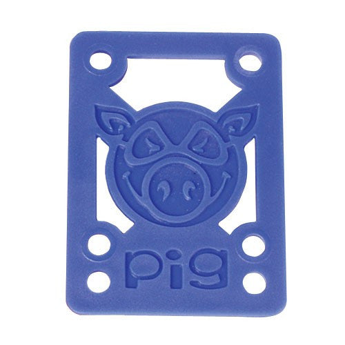 Pig Piles Hard - Blue - 1/8in - Skateboard Riser (2 PC)