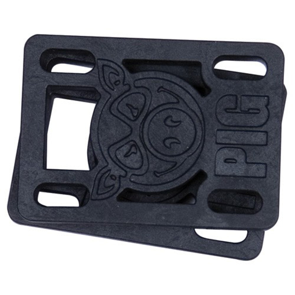 Pig Piles Hard - Black - 1/8in - Skateboard Riser (2 PC)