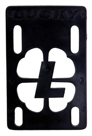 Lucky - Black - 1/8in - Skateboard Riser (1 PC)