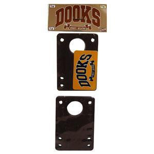 Dooks Short Stacks - Black - 1/4in - Skateboard Risers (2 PC)
