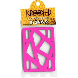Krooked - Hot Pink - 1/8in - Skateboard Riser (2 PC)