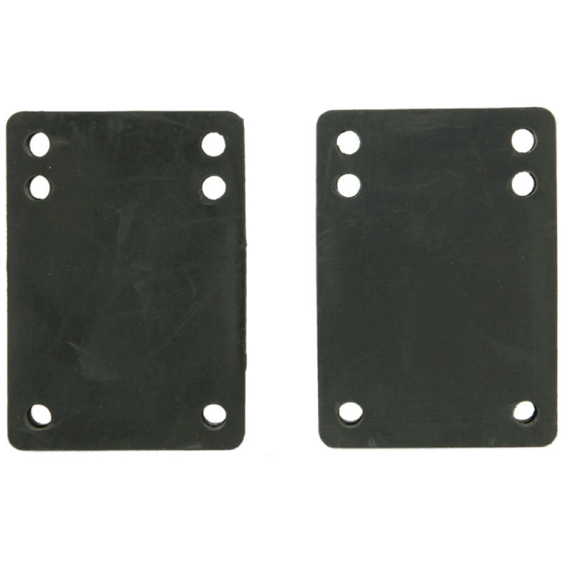 Tracker Rubber Shock Pads  - Black - 1/8in - Skateboard Riser (2 PC)