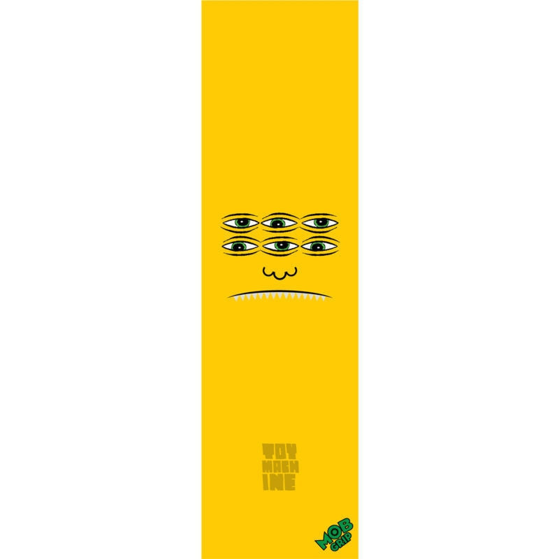 Toy Machine Trans Face Mob Grip - Yellow - Skateboard Griptape (1 Sheet)
