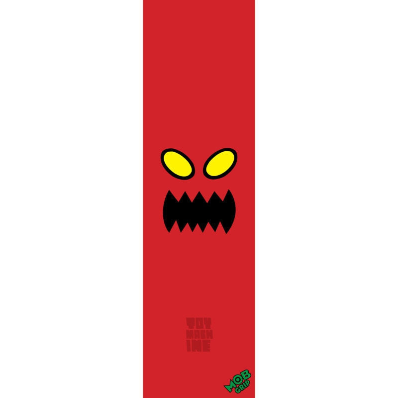 Toy Machine Monster Face Mob Grip - Red - Skateboard Griptape (1 Sheet)
