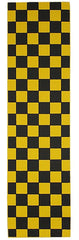 FKD Grip Checkers - Black/Yellow - Skateboard Griptape (1 Sheet)