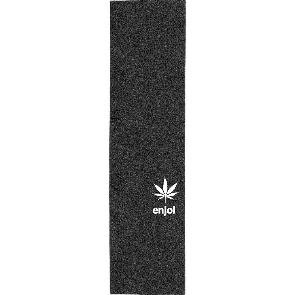 Enjoi Weed Leaf Die Cut Grip 9in x 33in - Black - Skateboard Griptape (1 Sheet)