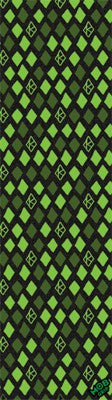 Krooked Grip Tape Diamond Green 9in x 33in - Griptape (1 Sheet)