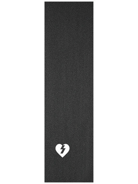 Mystery Heart Die Cut MOB Grip Tape - Black - Skateboard Griptape (1 Sheet)