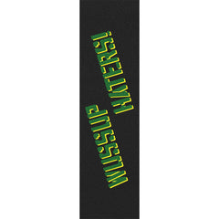 Shake Junt Wussup Haters Spray - 9in x 33in - Green/Yellow - Skateboard Griptape (1 Sheet)