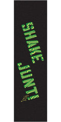 Shake Junt JF Figgy Pro - 9in x 33in - Black/Green - Skateboard Griptape (1 Sheet)