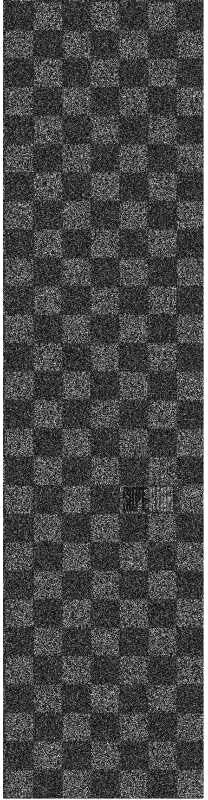 Superior Checker - Black/Black - Skateboard Griptape (1 Sheet)