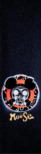 Mouse Dominate Hand Sprayed - Mob - Black - Skateboard Griptape (1 Sheet)