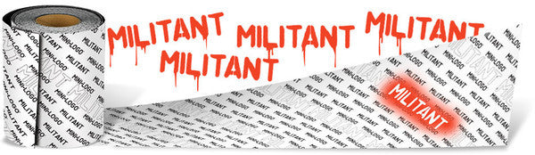 Mini Logo Militant Grip Strip 9in x 33in - Black - Skateboard Griptape (1 Sheet)
