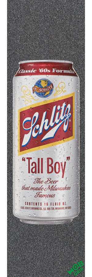 Mob PBC Schlitz Tall Boy 16oz Can Grip Tape 9in x 33in - Skateboard Griptape (1 Sheet)