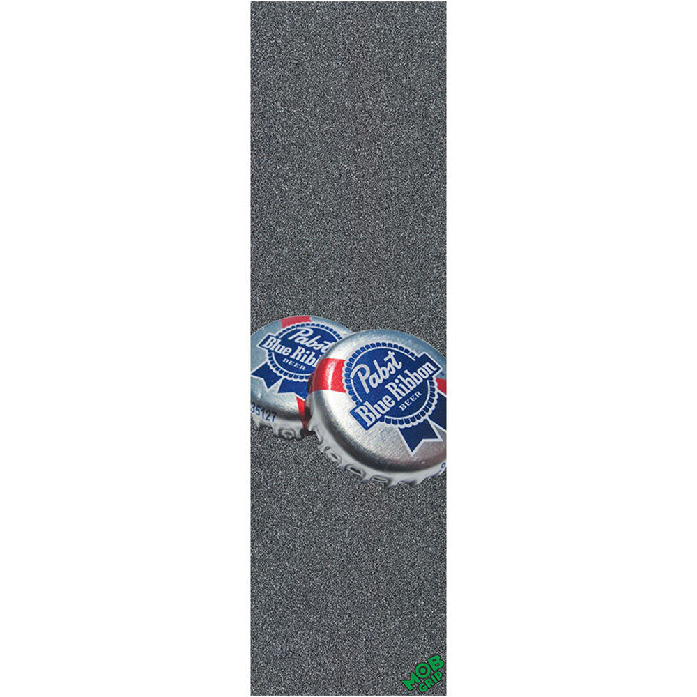 Mob PBC PBR Bottle Caps Grip Tape 9in x 33in - Black - Skateboard Griptape (1 Sheet)