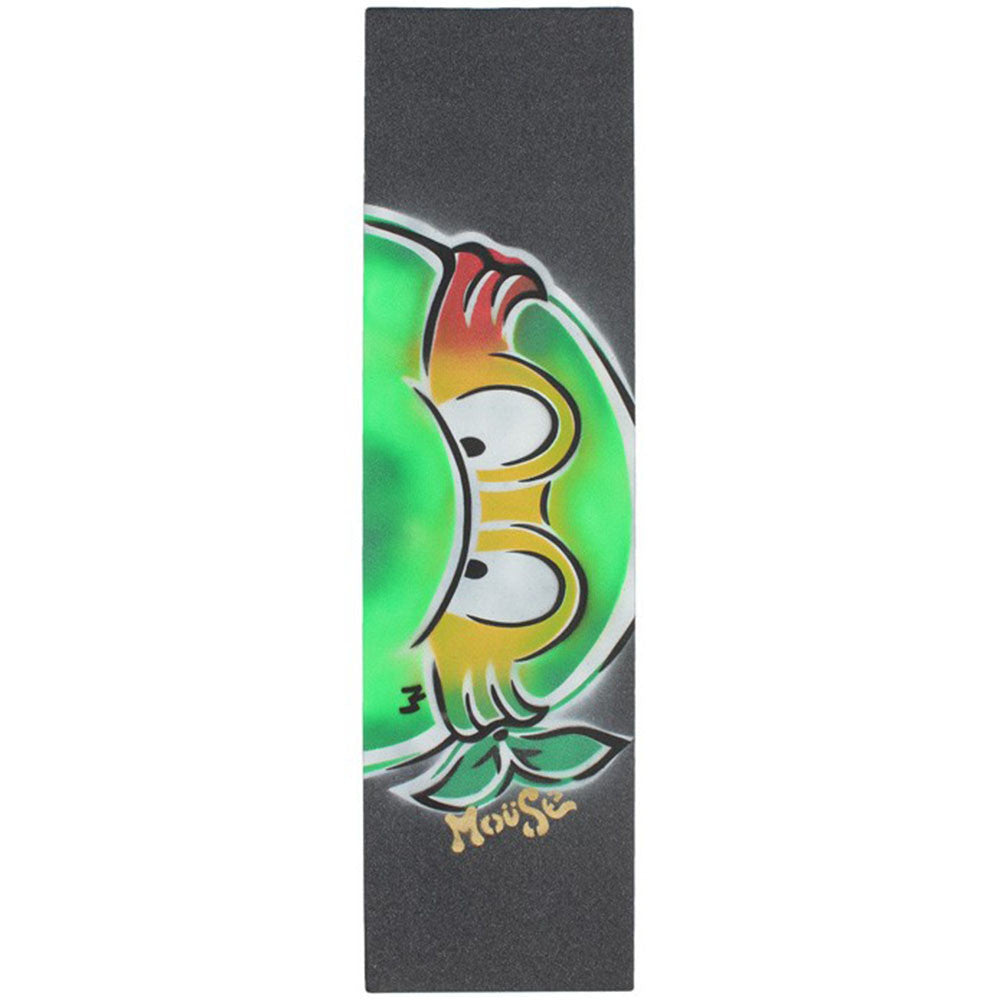 Mob Mouse Rasta TMNT Hand Sprayed 9in x 33in - Skateboard Griptape (1 Sheet)